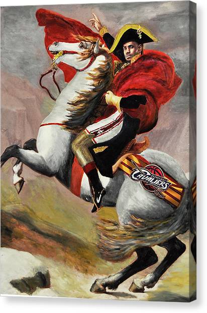 0363f0ee0db Lebron James Canvas Print - Lebron James Ride To Victory by Robert Barlow