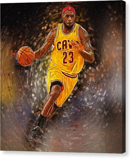 Black Mambas Canvas Print - Lebron James by Semih Yurdabak