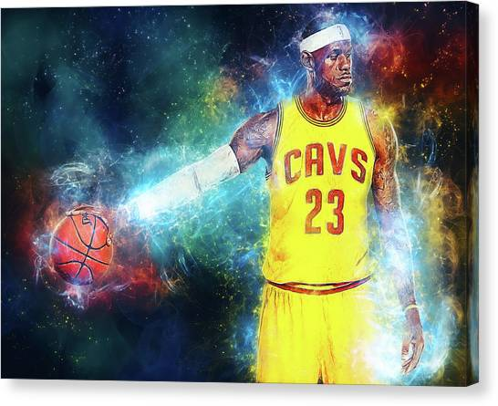 Kobe Bryant Canvas Print - Lebron James by Zapista