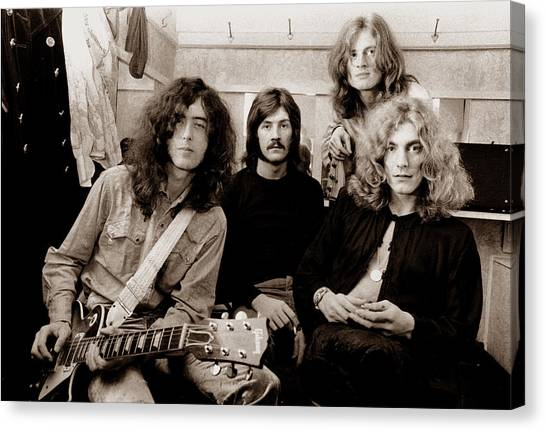Music Canvas Print - Led Zeppelin 1969 by Chris Walter