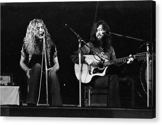 Robert Plant Canvas Print - Led Zeppelin 1971 Acoustic by Chris Walter