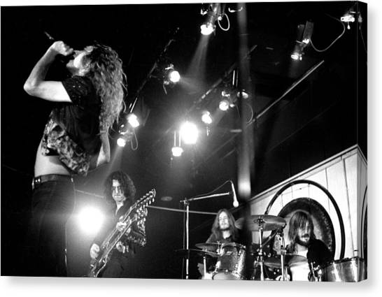 Jimmy Page Canvas Print - Led Zeppelin 1972 by Chris Walter
