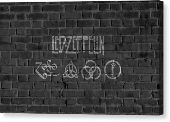 Robert Plant Canvas Print - Led Zeppelin Brick Wall by Dan Sproul