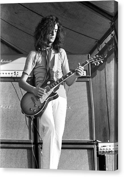 Jimmy Page Canvas Print - Led Zeppelin Jimmy Page '69 by Chris Walter