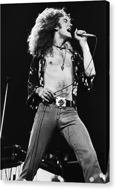 Led Zeppelin Canvas Print - Led Zeppelin Robert Plant 1975 by Chris Walter