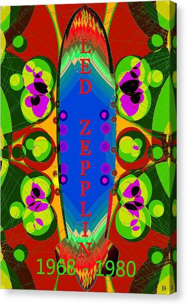Led Zepplin Canvas Print - Led Zepplin Retro Poster Artwork A by David Lee Thompson