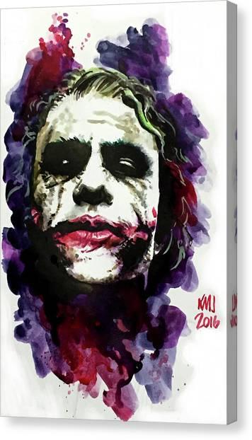Heath Ledger Canvas Print - Ledgerjoker by Ken Meyer