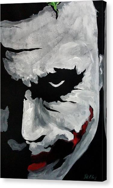 Heath Ledger Canvas Print - Ledger's Joker by Dale Loos Jr