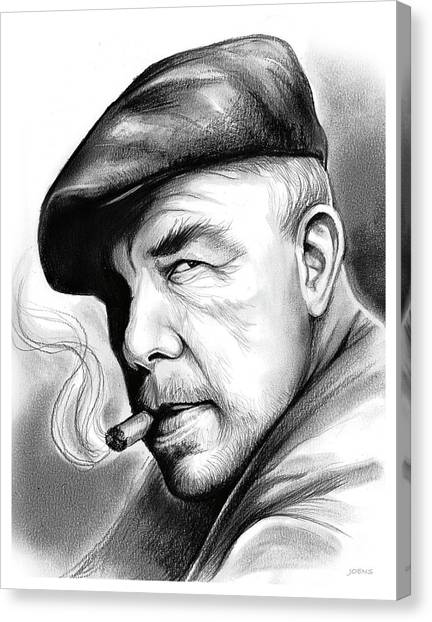 Hollywood Canvas Print - Lee Marvin by Greg Joens