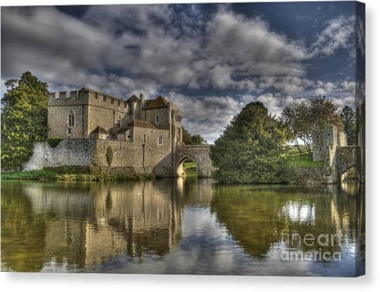Leeds Castle Reflections Canvas Print