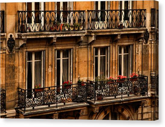 Left Bank Balconies Canvas Print