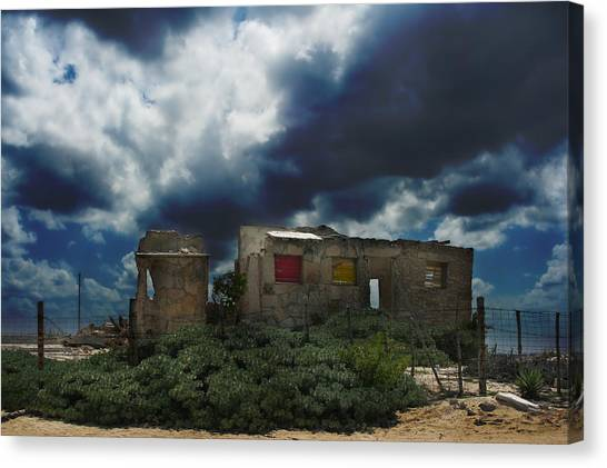 Abandoned House Canvas Print - Left Behind by Laurie Search