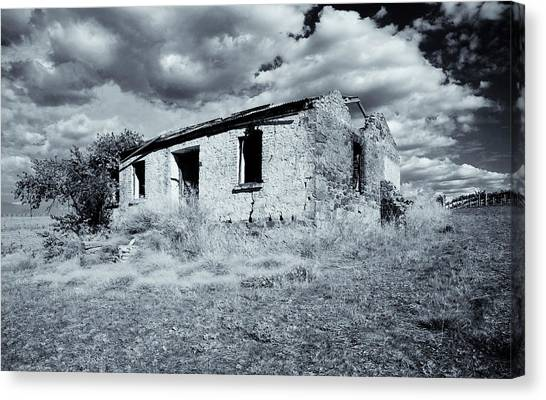 Brick House Canvas Print - Left In Ruin by Mike  Dawson