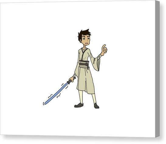 Padawan Canvas Print - Legaci The Young Jedi by Melany Hernandez