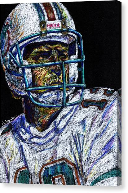 Dan Marino Canvas Print - Legend by Maria Arango