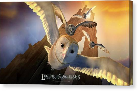 Triceratops Canvas Print - Legend Of The Guardians The Owls Of Ga'hoole by Maye Loeser