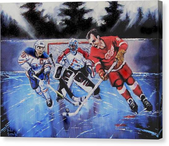 Gordie Howe Canvas Print - Legendary Generations by John French