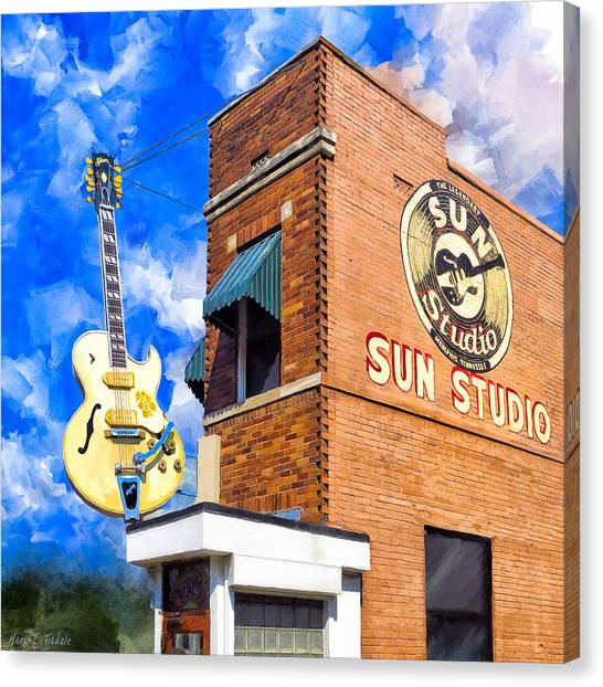 Tn Canvas Print - Legendary Home Of Rock N Roll by Mark Tisdale
