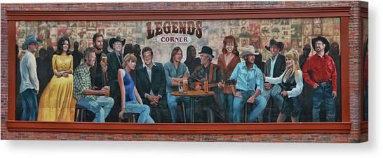Taylor Swift Canvas Print - Legend's Corner Mural - Nashville  by Allen Beatty