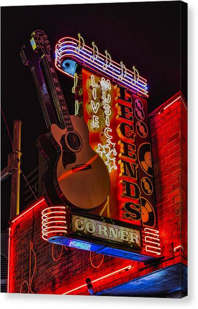 Legends Corner Nashville Canvas Print