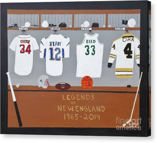 Larry Bird Canvas Print - Legends Of New England by Dennis ONeil
