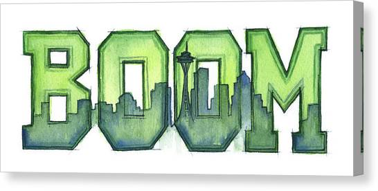 Football Canvas Print - Legion Of Boom by Olga Shvartsur
