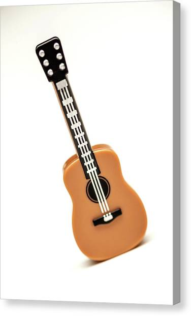 Acoustic Guitars Canvas Print - Lego Guitar by Samuel Whitton