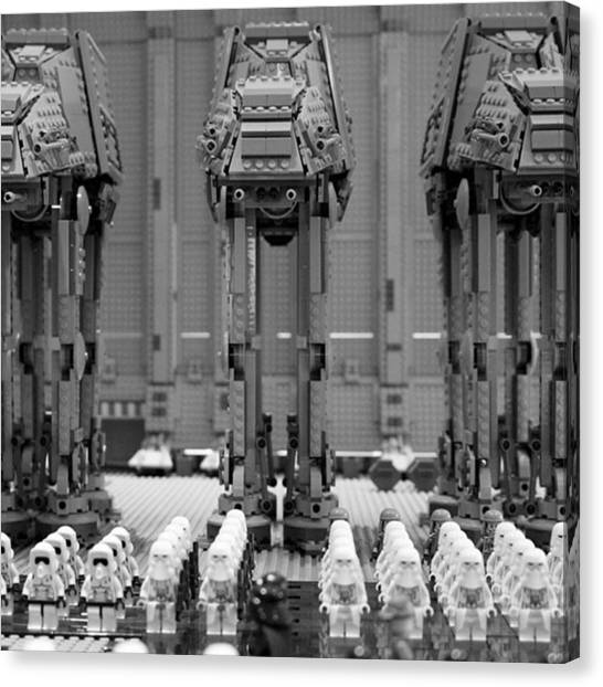 Stormtrooper Canvas Print - #lego #legostarwars #starwars #atat by Andy Brown