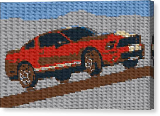 Toy Shop Canvas Print - Lego Mustang by Dan Sproul