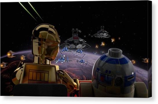 Padawan Canvas Print - Lego Star Wars The Padawan Menace by Carmine Danhauer