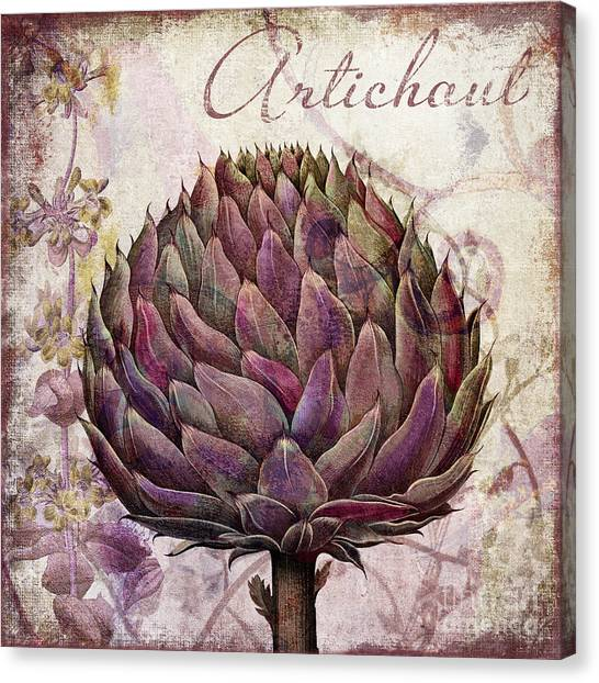 Artichoke Canvas Print - Legumes Francais Artichoke by Mindy Sommers