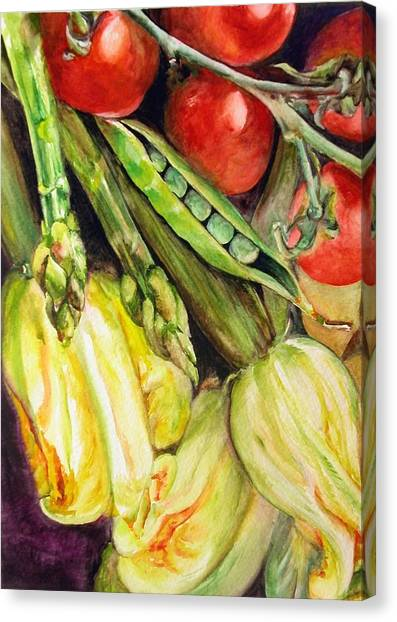 Legumes Canvas Print by Muriel Dolemieux