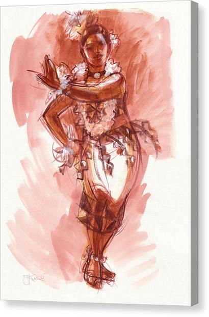 Lelei, Dancer Of Tonga Canvas Print
