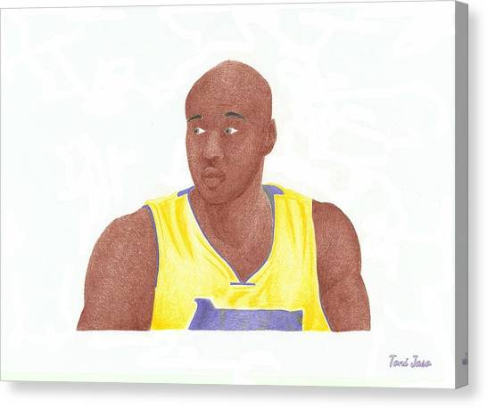 La Clippers Canvas Print - Lemar Odom by Toni Jaso