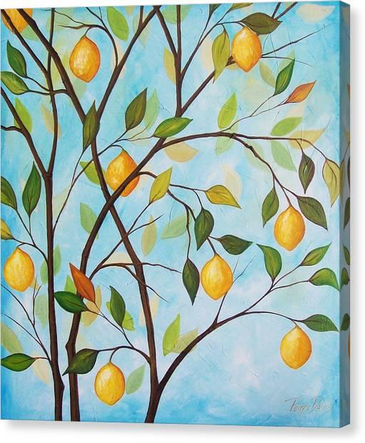 Lemom Tree Canvas Print by Peggy Davis