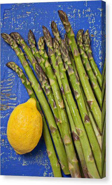Asparagus Canvas Print - Lemon And Asparagus  by Garry Gay