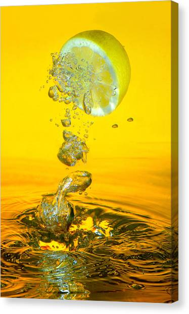 Lemon And Bubbles Canvas Print by Travel Images Worldwide