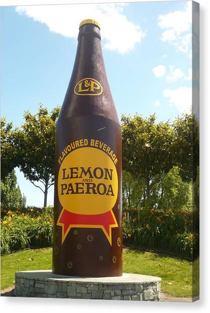 Lemon And Paeroa Canvas Print by Amy Jayne Roper