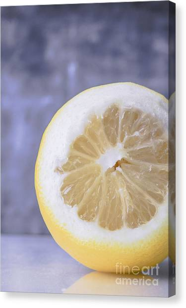 Lemons Canvas Print - Lemon Half by Edward Fielding
