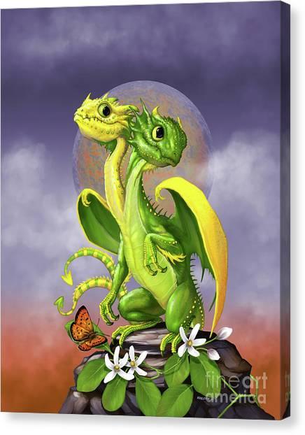 Lemon Lime Dragon Canvas Print
