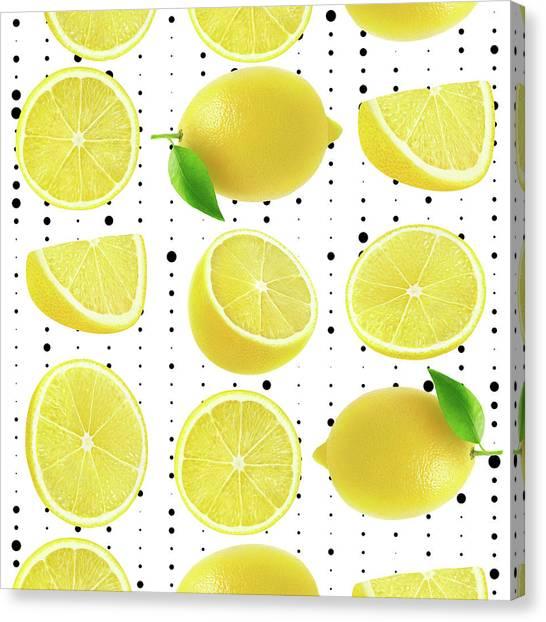 Grapefruit Canvas Print - Lemon  by Mark Ashkenazi