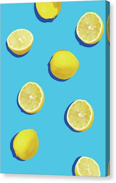 Lemons Canvas Print - Lemon Pattern by Rafael Farias