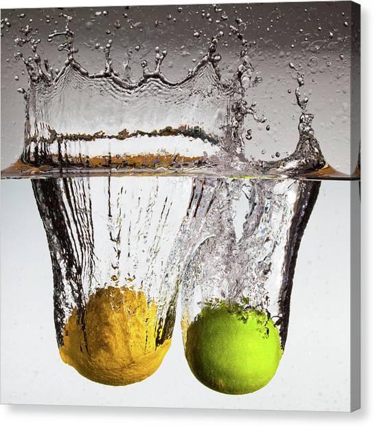 Water Canvas Print - Lemon Square by François Dorothé