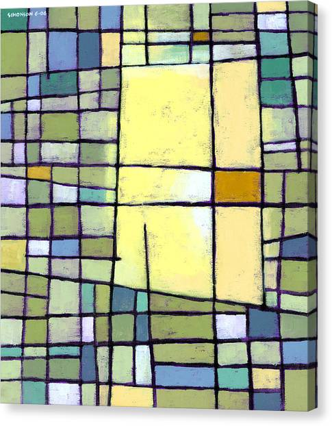 Pattern Canvas Print - Lemon Squeeze by Douglas Simonson
