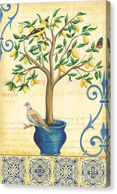 Dove Canvas Print - Lemon Tree Of Life by Debbie DeWitt