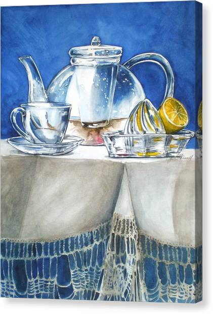 Lemon With Your Tea Canvas Print