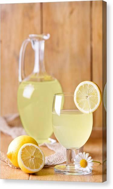 Juice Canvas Print - Lemonade by Amanda Elwell