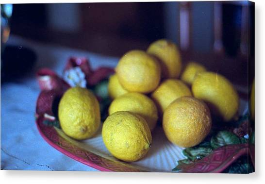 Lemons Canvas Print by Michael Morrison