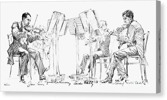 Music Stands Canvas Print - Lener String Quartet by Granger