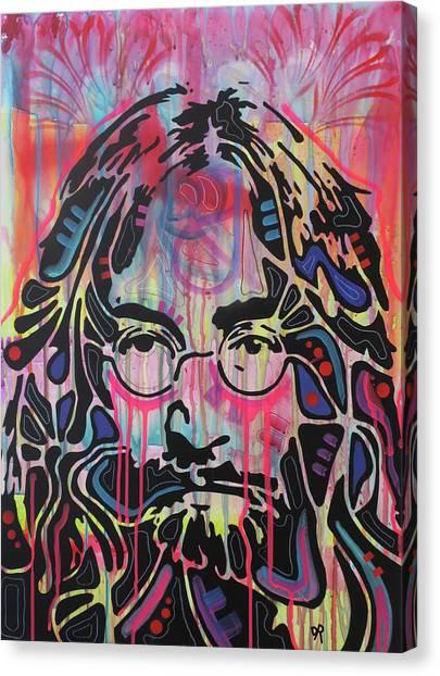 John Lennon Canvas Print - Lennon Flare by Dean Russo Art